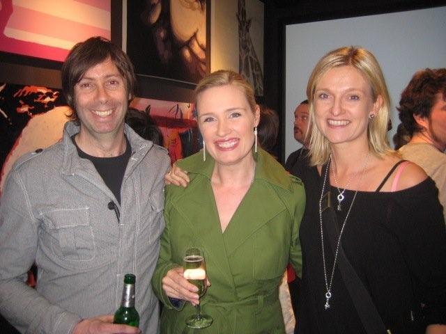 Designer, Artist & Art with Heart founder David Ansett with Real Weddings' Kirsten McKelden & Kikki.K's Kristina Karlsson