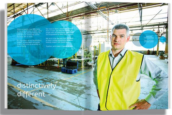 SAGE Brochure Spread Graphic Design Melbourne