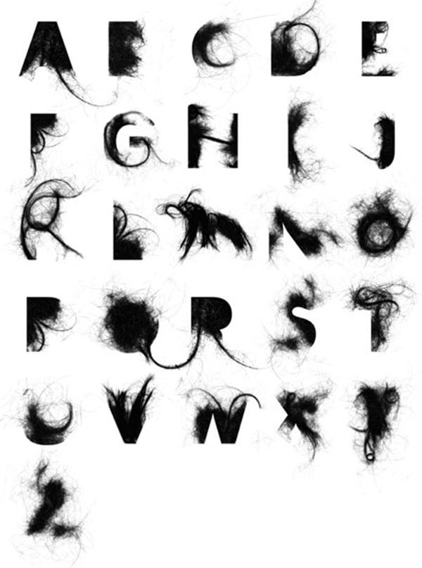 hairy alphabet by Craig Ward