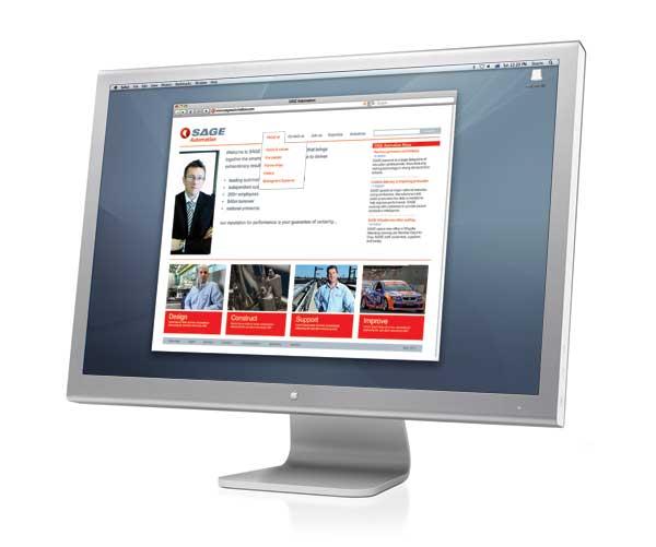 SAGE website Graphic Design Melbourne