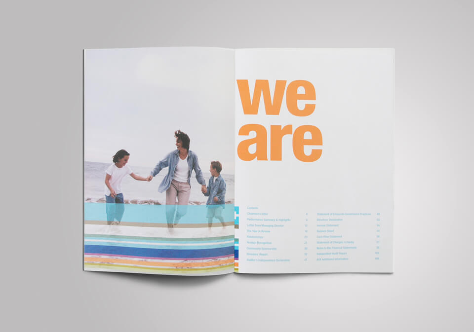 insurance annual report design