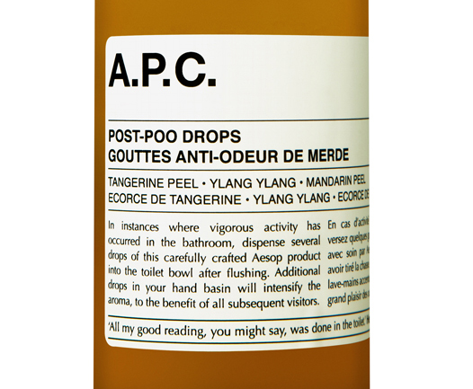 Aesop APC Post Poo Drops Label