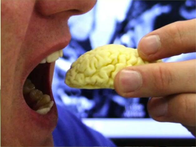 Branding Design Chocolate Brain 3D Printing