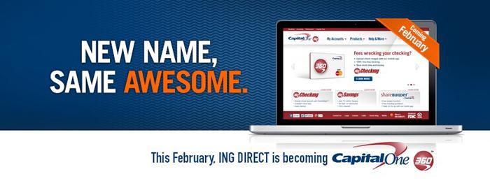 Capital One 360 rebrand