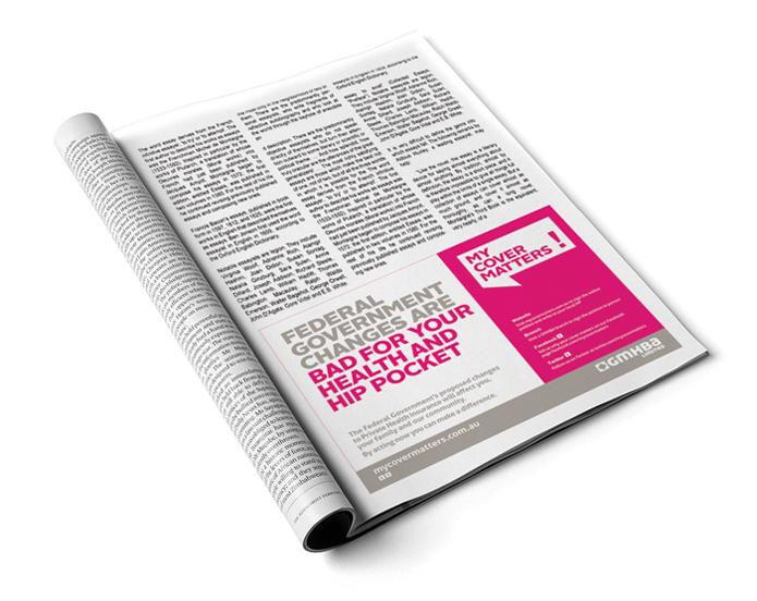 GMHBA MCM Press Half Page Ad