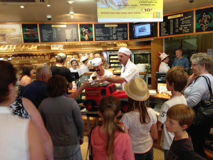 Beechworth Bakery crowds