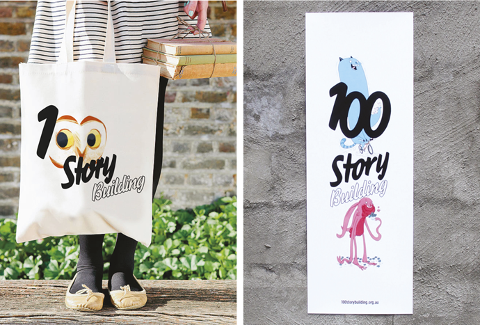 100 story bag and poster