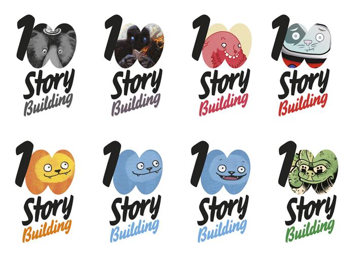 100 story logos 1