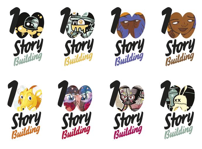 100 story logos 2