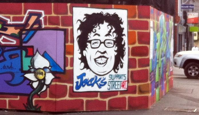 Jock's Ice Cream Brand Hoarding