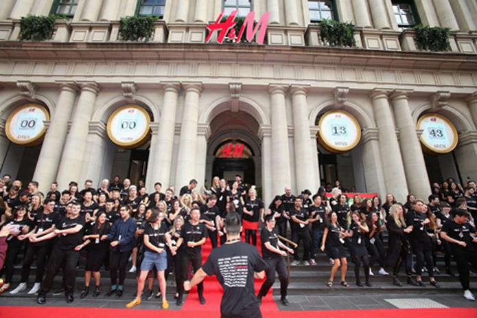 H&M opens in Melbourne Australia