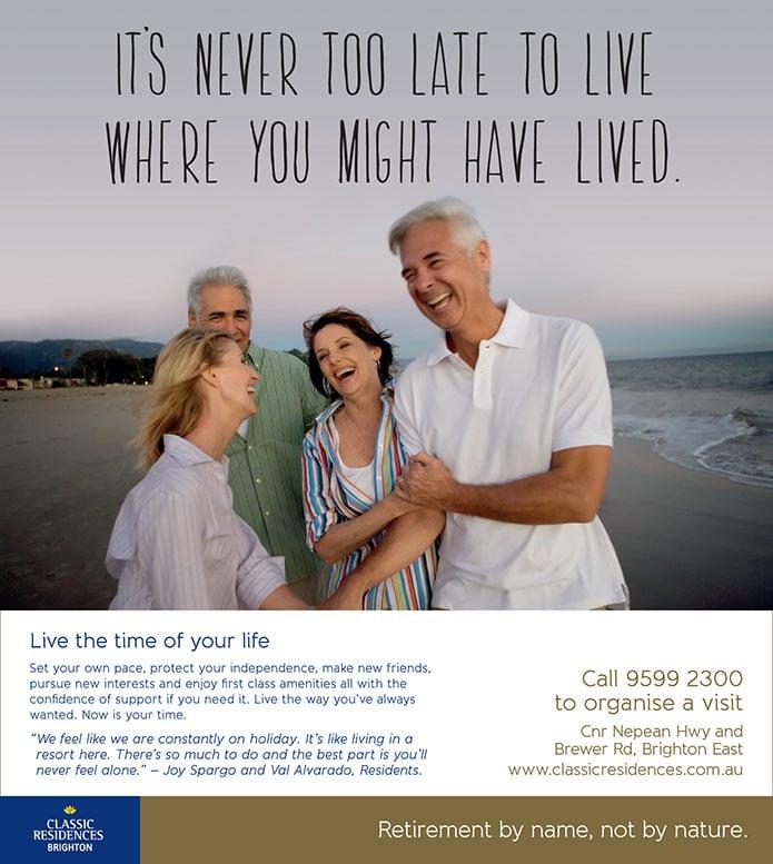 retirement living advertising