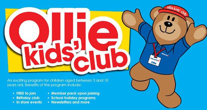 Officeworks Ollie Kids Club