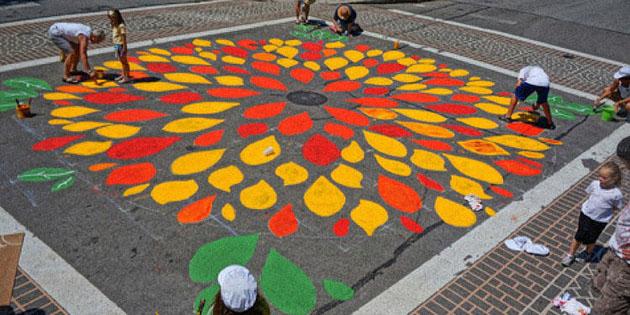 Road Art Great grassroots local branding