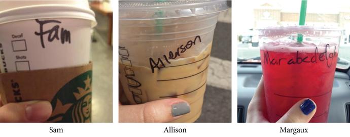 Starbucks deliberately mispelling your name