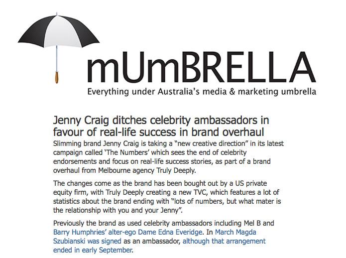 Jenny Craig Ad agency