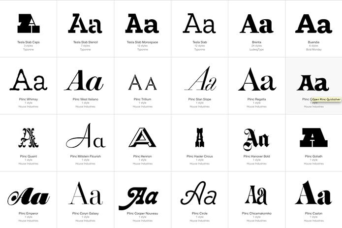 Fontstand Brand - Type