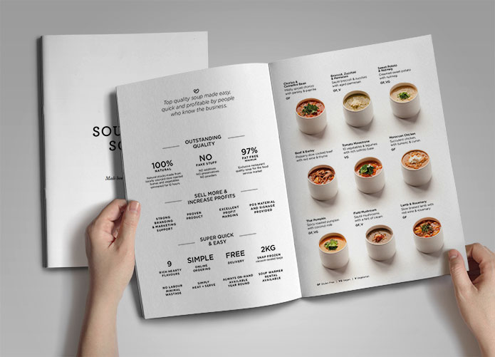 food product brochure design