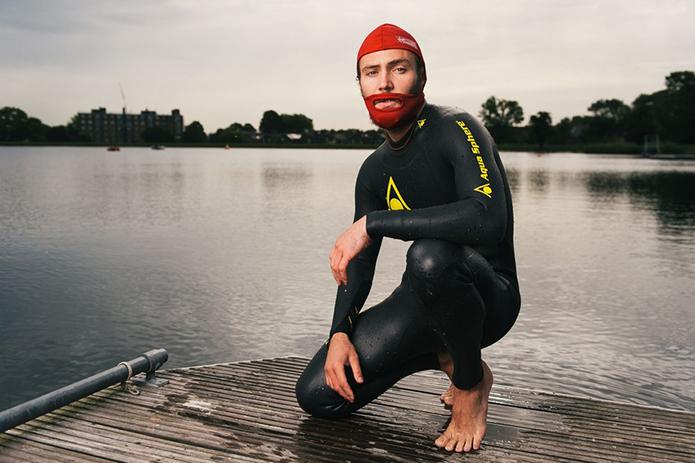 Virgin Swim Cap for men with beards