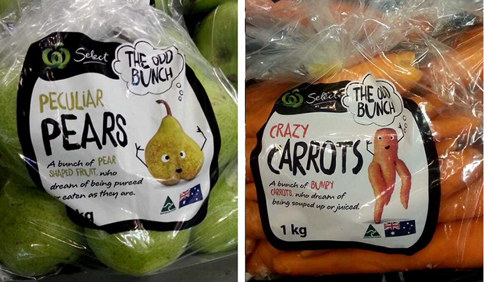 Odd Bunch Woolworths Brand Packaging