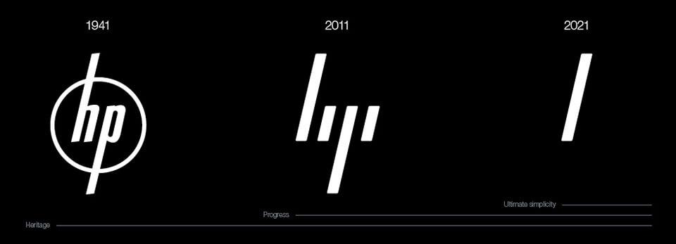 HP logo evolution