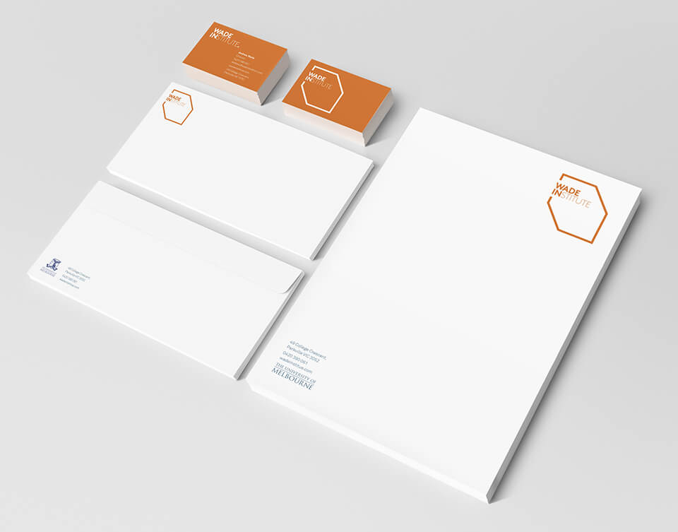 Wade Institute brand Stationery3