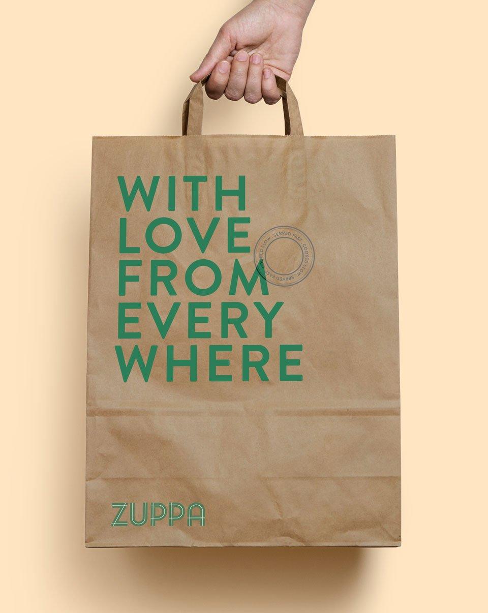 Zuppa visual identity bag