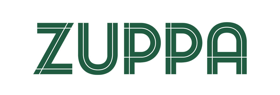 Zuppa visual identity brandmark logo