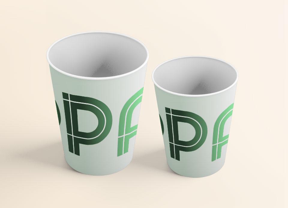 Zuppa visual identity cup