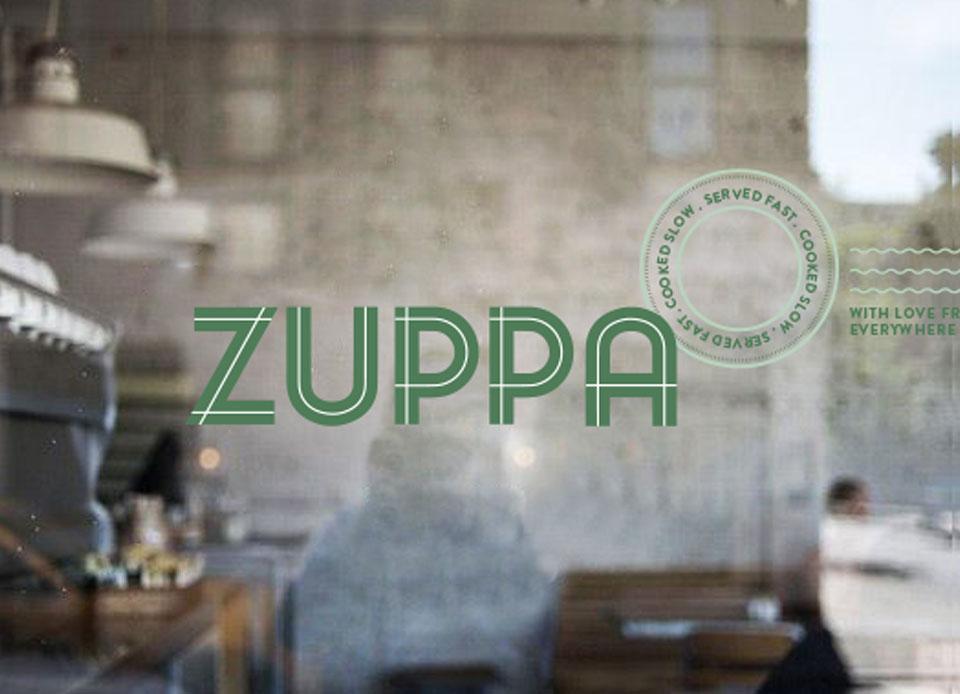 Zuppa visual identity sign
