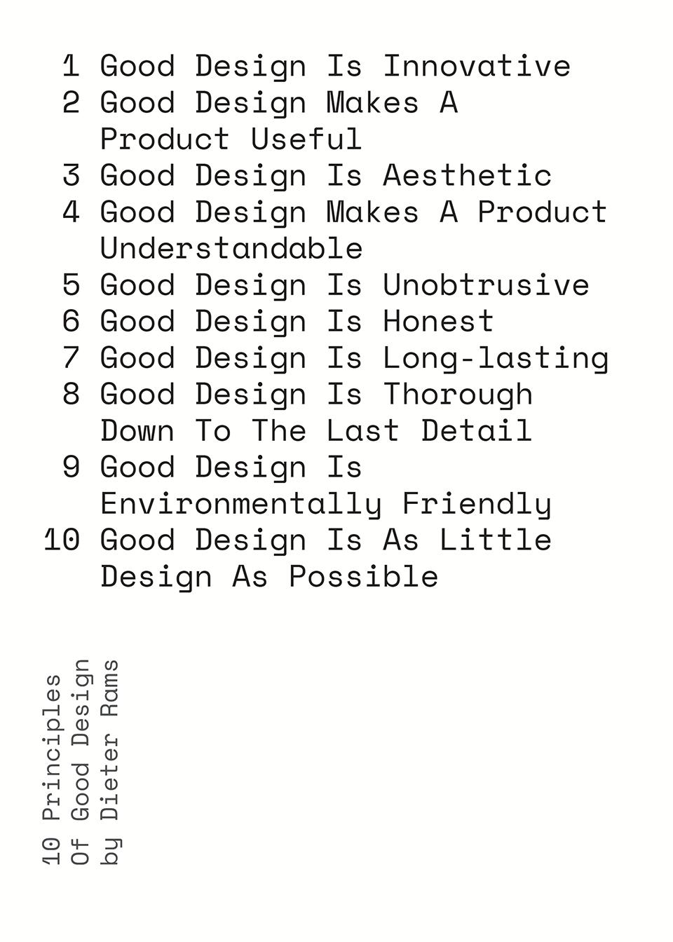 Dieter Rams 10 principles of design