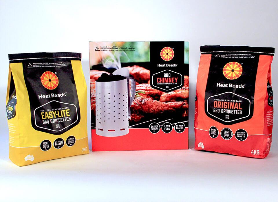 Heat Beats brand packaging range
