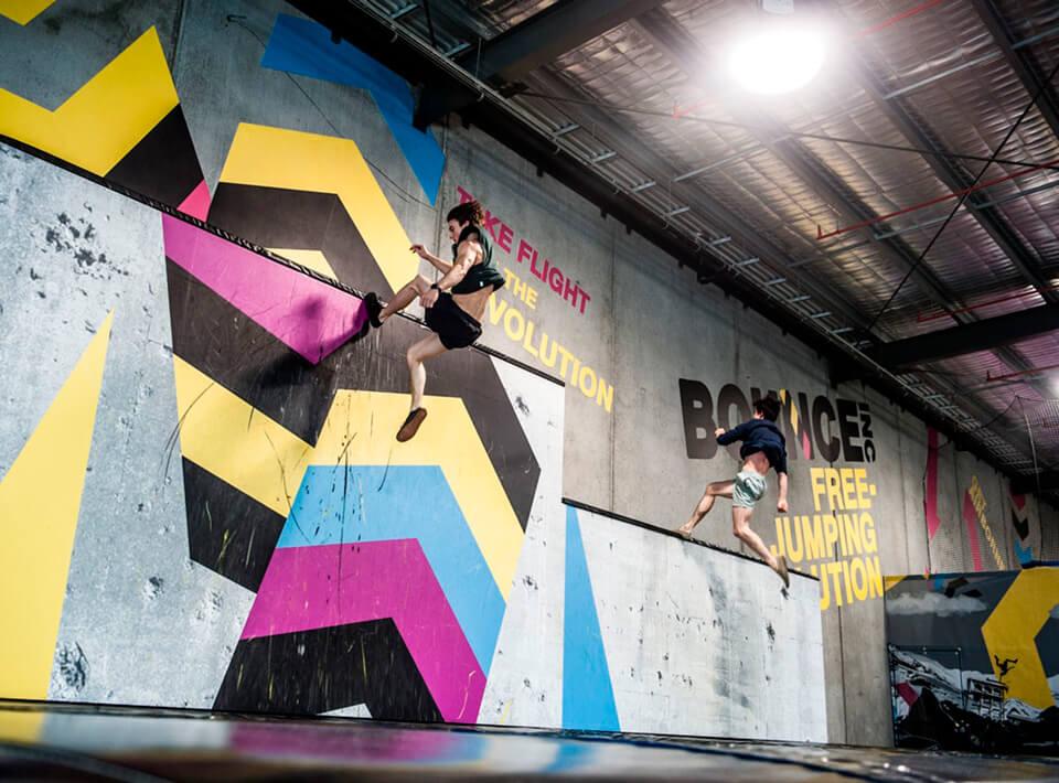 Bounce trampoline centre branding