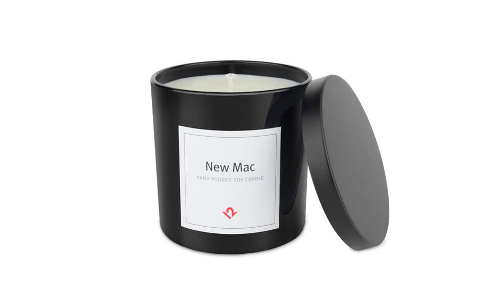12 South's Sensory brand differentiation New Mac Smell Candle