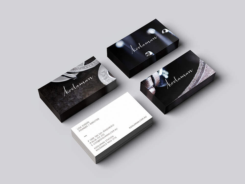 design agency truly deeply business cards brand melbourne