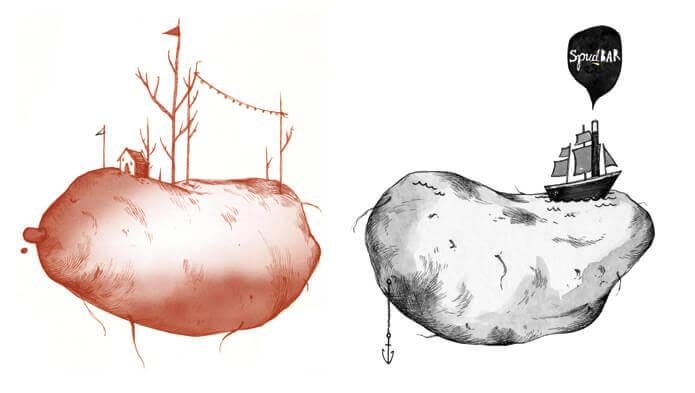 Spudbar-Graphic-illustrations