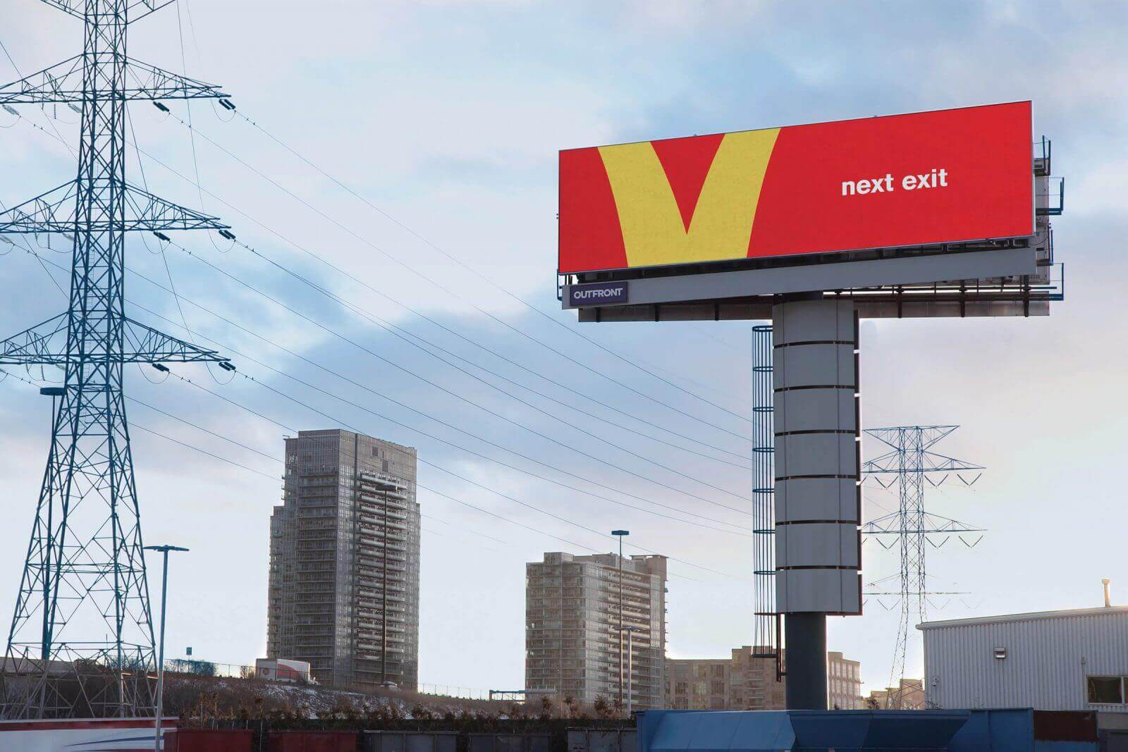 McDonalds billboards prove the value of a good brand mark