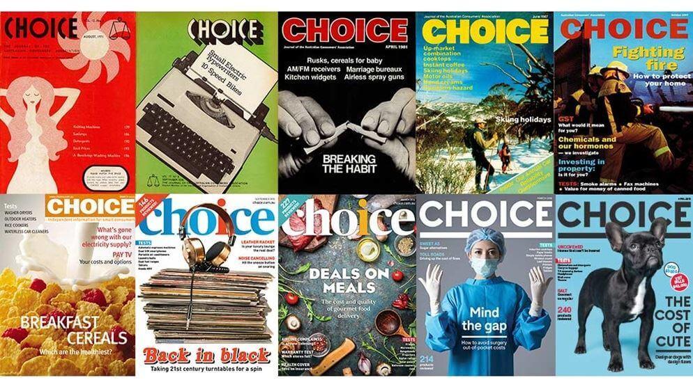 Choice brand mark evolves on magazine covers.