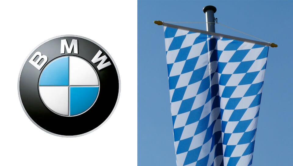 Bavarian-flag-BMW-logo