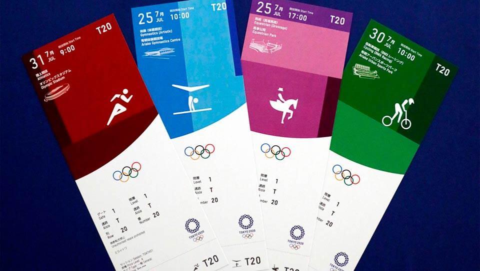 tokyo 2020 ticket design