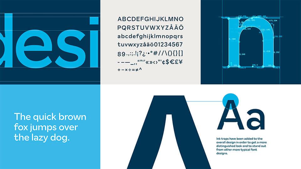 Brand type design